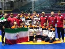 تیم کشتی آزاد نوجوانان ایران با ۷ طلا، یک نقره و یک برنز قهرمان آسیا شد