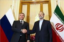 تاکید روسای پارلمان ایران و روسیه بر توسعه روابط اقتصادی دو کشور
